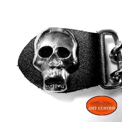 Chaine extension gilet Skull moto custom