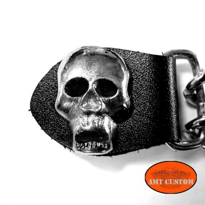 Skull Chain extension for biker vest jacket
