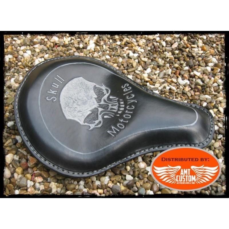 Black Solo Seat Skull Choppers, Bobbers, Harley, Kustom, ...