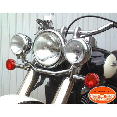 Suzuki Spotlight Bracket chrome Intruder C1800, C800, VL125, VL250, Volusia VL800, Marauder VZ800 and Trike CT1800 Rewaco
