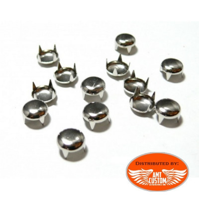 20 Chrome or bronze studs for bag, jacket, vest custom