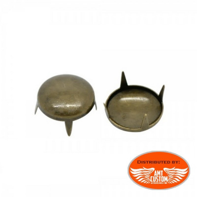 Lot de 20 rivets clous custom bronze