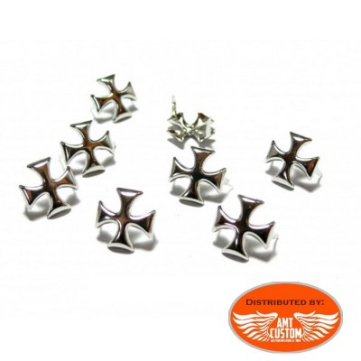 Chrome studs for bag, jacket, vest custom