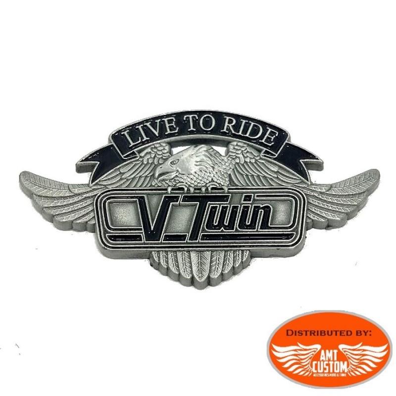 pin's badge motorcycle vtwin