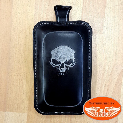Black Passenger seat SKULL for solo seat motorcycle Universal Bobber Custom Choppers