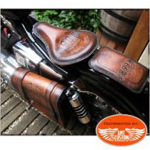 Kit Bobber cuir route 66 pour moto selle solo bobber Harley Chopper