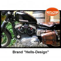 "Bobber seat and swingarm bag ""Road 66"" Harley Bobber - Choppers"