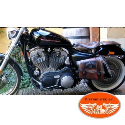 Bobber cuir marron Jack Daniel's choppers