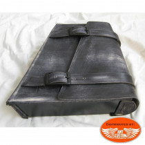 Black leather swingarm bag Harley Bobber - Choppers