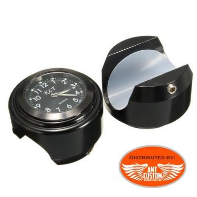 Montre Guidon noire diamètre 22 - 25 mm