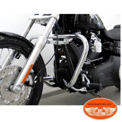 Dyna Fat Engine guard 38mm for Fat Bob FXDF Harley chrome
