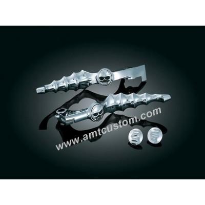 Skull Brake levers and clutch for motorcycle Honda custom biker
