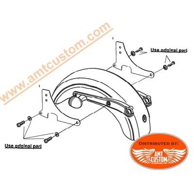 Installion mount Sportster Chrome Passenger Sissy Bar for Harley XL883 XL1200