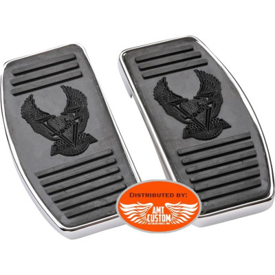 Universelles 2 Platines marche pieds Eagle V-Twin