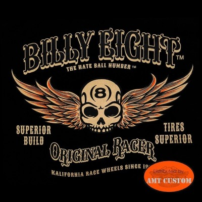 Original Tee shirt Biker Billy Eight Original racer winged wheel