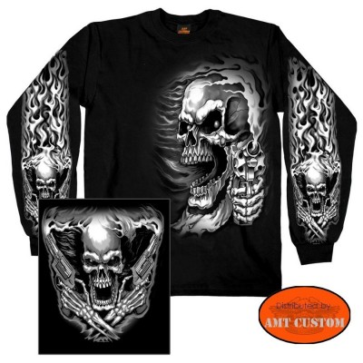 Assasin skull biker Polo T-shirt