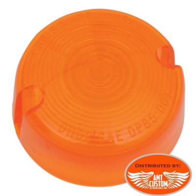 Lentille cabochon orange Clignotants  pour  Softail Dyna Sportster