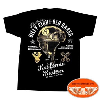 tshirt manches courtes billy eight casque homme moto custom trike harley motard biker
