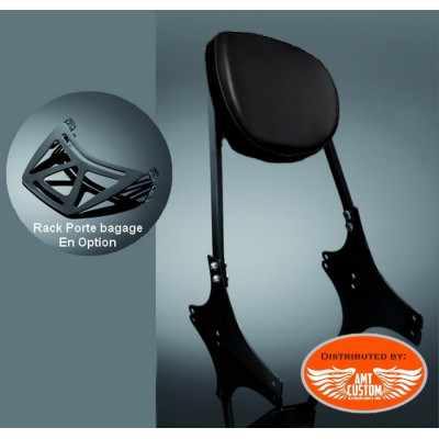 Sportster Black Sissy Bar confort for Harley XL883 and 1200