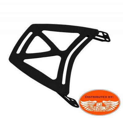 Rack Porte bagage Large Noir pour Sissy bar Harley Sportster, Dyna, Honda Suzuki, Kawasaki, Yamaha, ...
