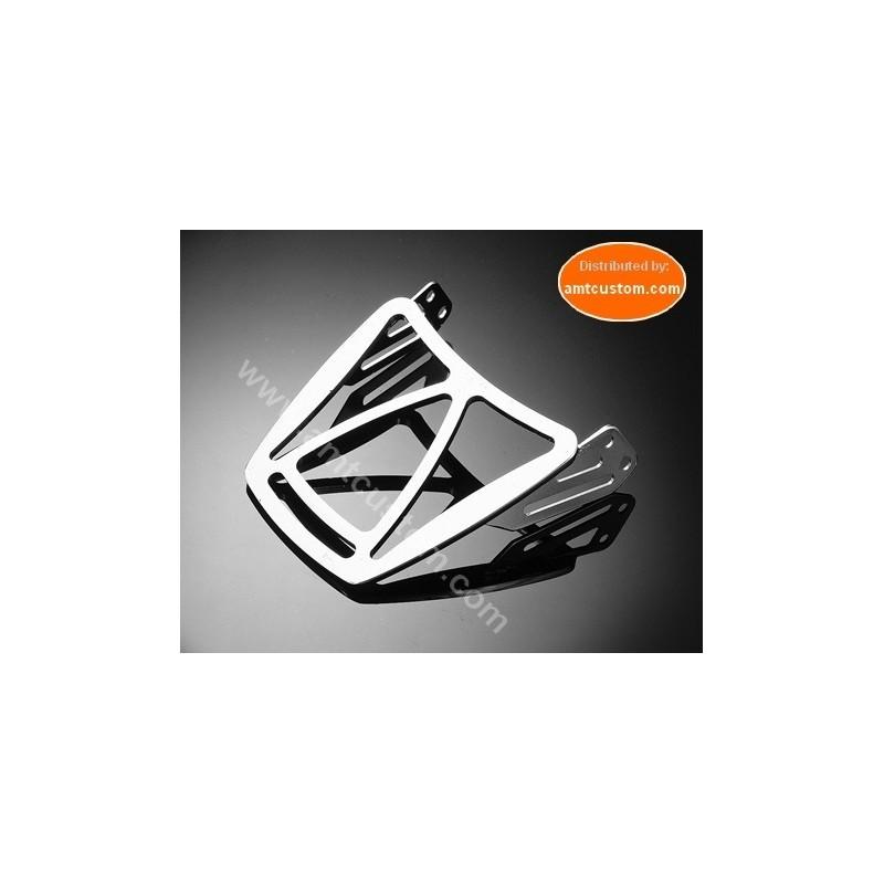 Rack Porte bagage chrome pour Sissy bar Harley Dyna Fat Bob FXDF