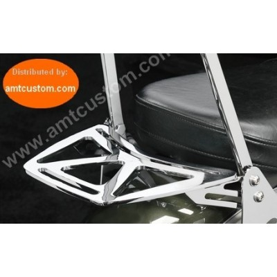 "Luggage Rack Dyna Fat Bob FXDF ""Low"" Sissybar Passenger Sissy Bar Harley Chrome."