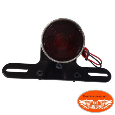 "Bobber rear Tailllight ""Shotgun"" with support plate Black"