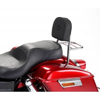 Dyna FLD Switchback Sissy bar Pad and Carrier Chrome for Harley Davidson