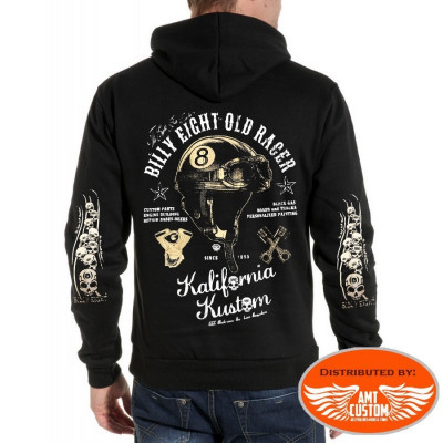 "Veste capuche Biker Billy Eight ""Old Racer"""