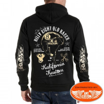 Skull Helmet Hooded Sweat Jacket Billy Eight Kustom