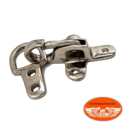 Clips attache rapide métallique pour gilets / sacoches cuir .