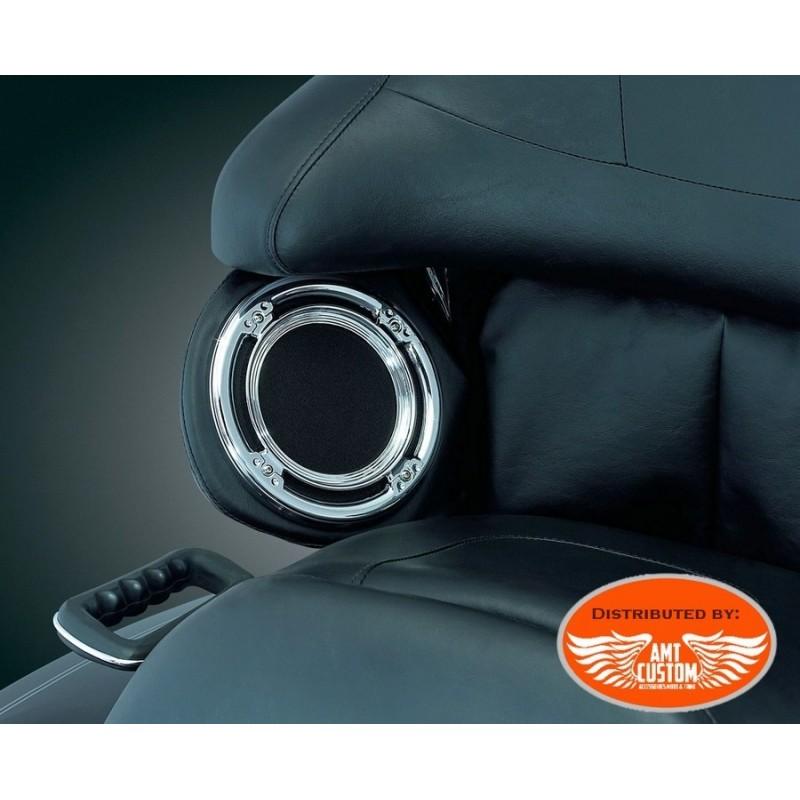 2x Entourage chrome haut parleur Tour Pak pour Harley Electra FLHTC FLHTK FLRTU