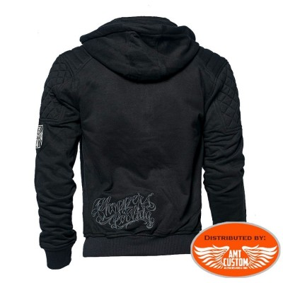 Hooded West Coast Chopper jacket Por Vida motocycle custom trike