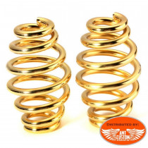 Paire de ressorts pour selle couleur or moto custom trike harley motard biker - Pour Old School Custom, Choppers, Bobber