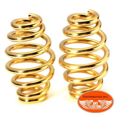 Gold Spring Set for Old School solo seat - Old School Motorcycles Kustom, Choppers, Bobber