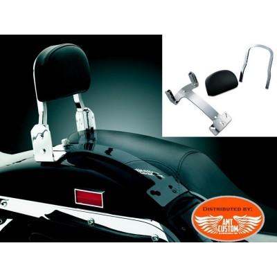 Harley Chrome Passenger Sissy Bar for Softail Dyna and Sportster