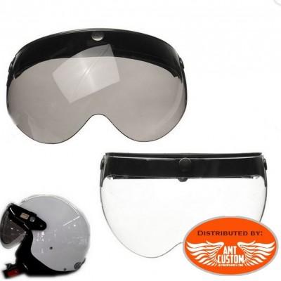 Visière lunettes  pour casque moto Jet universel