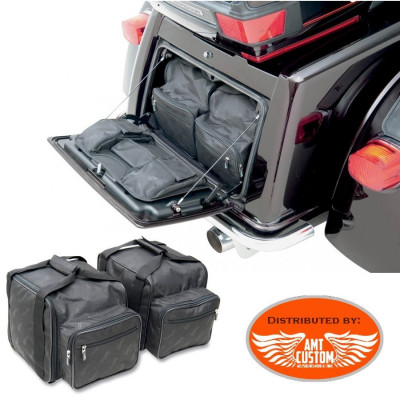 2x Sacoche sac Valise équipement coffre Triglide FL Harley trikes