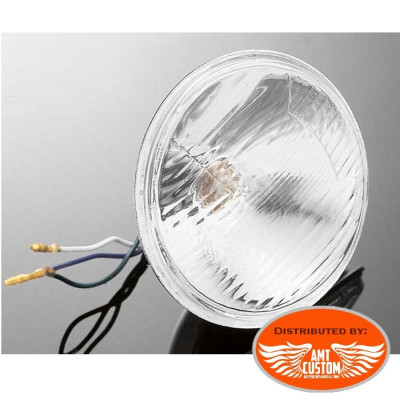 "Spotlight replacement unit for 115mm 4,5"" motorcycles 55W 12V DC"