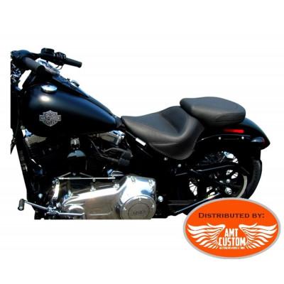 "Softail Slim FLS et Blackline FXS selle pilote et passager ""Vintage"" confort pour Harley Davidson"