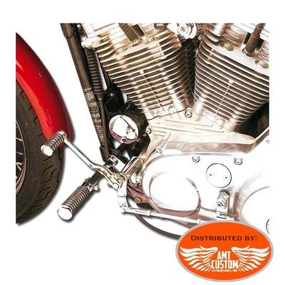 Sportster de 1991 à 2003 Kit commandes avancées chromes pour Harley XL 883 et 1200