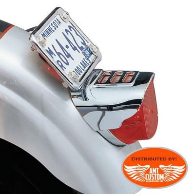 Cache phare arrière Chrome -  Feux arrière pour Harley Davidson de 1973 à aujourd'hui