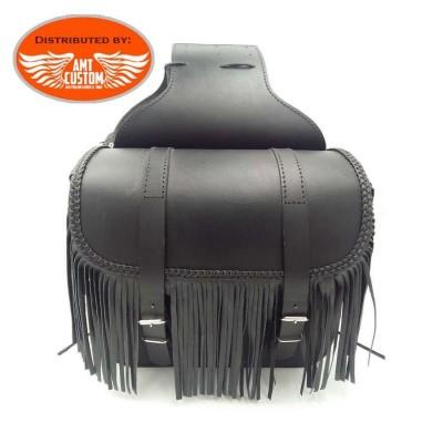 Sacoches cavalières cuir à franges details