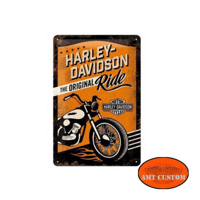 Decorative plate Original ride Harley Davidson