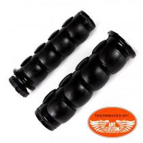 """Paire de poignées Noires ultra confort 22 mm (7/8"""") et 25mm (1"""")"""