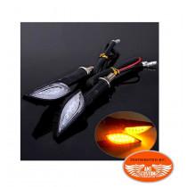 Clignotant LED squelette main Skull Noir moto custom
