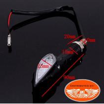 Dimensions Clignotant LED squelette main Skull Noir moto custom