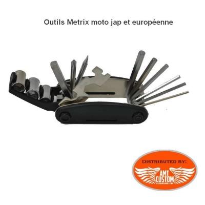 Trousse outils clés Metrix motos japonnaises et Européennes.