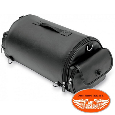 Sacoche Roll bag  Moto custom harley guidon selle