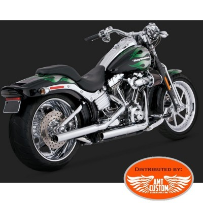 Softail Echappement Silencieux Chrome STRAIGHTSHOTS pour Harley Davidson Heritage, Fat Boy Deluxe Cross Bones Springer Breackout